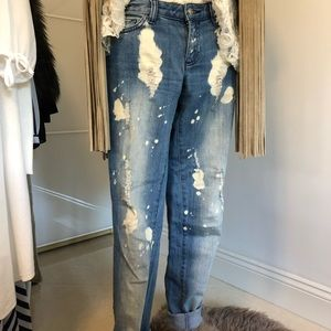 Michael Kors distressed skinny jeans